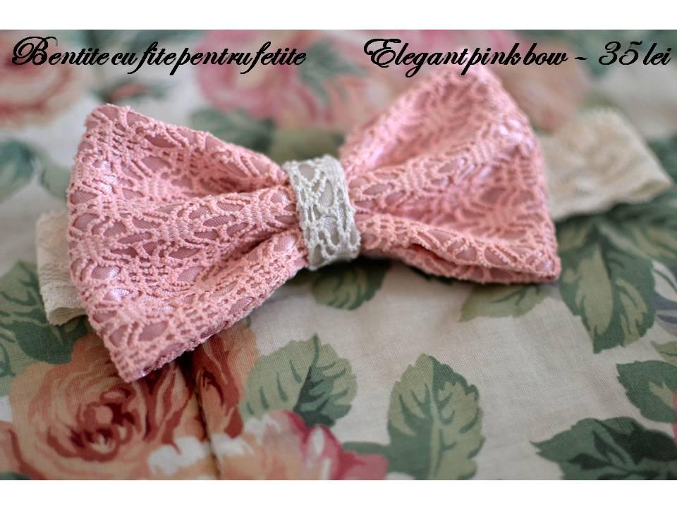 Elegant pink bow