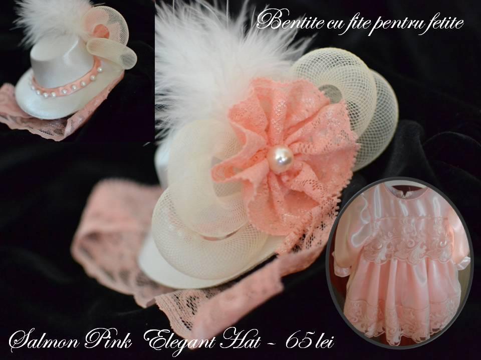 Salmon Pink  Elegant Hat
