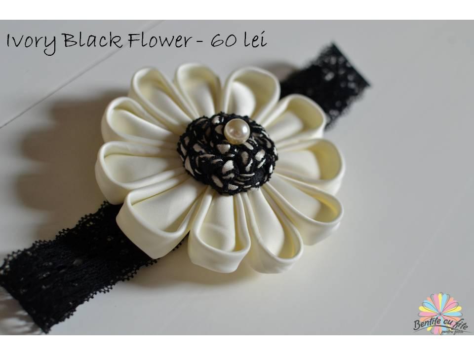 Ivory Black Flower