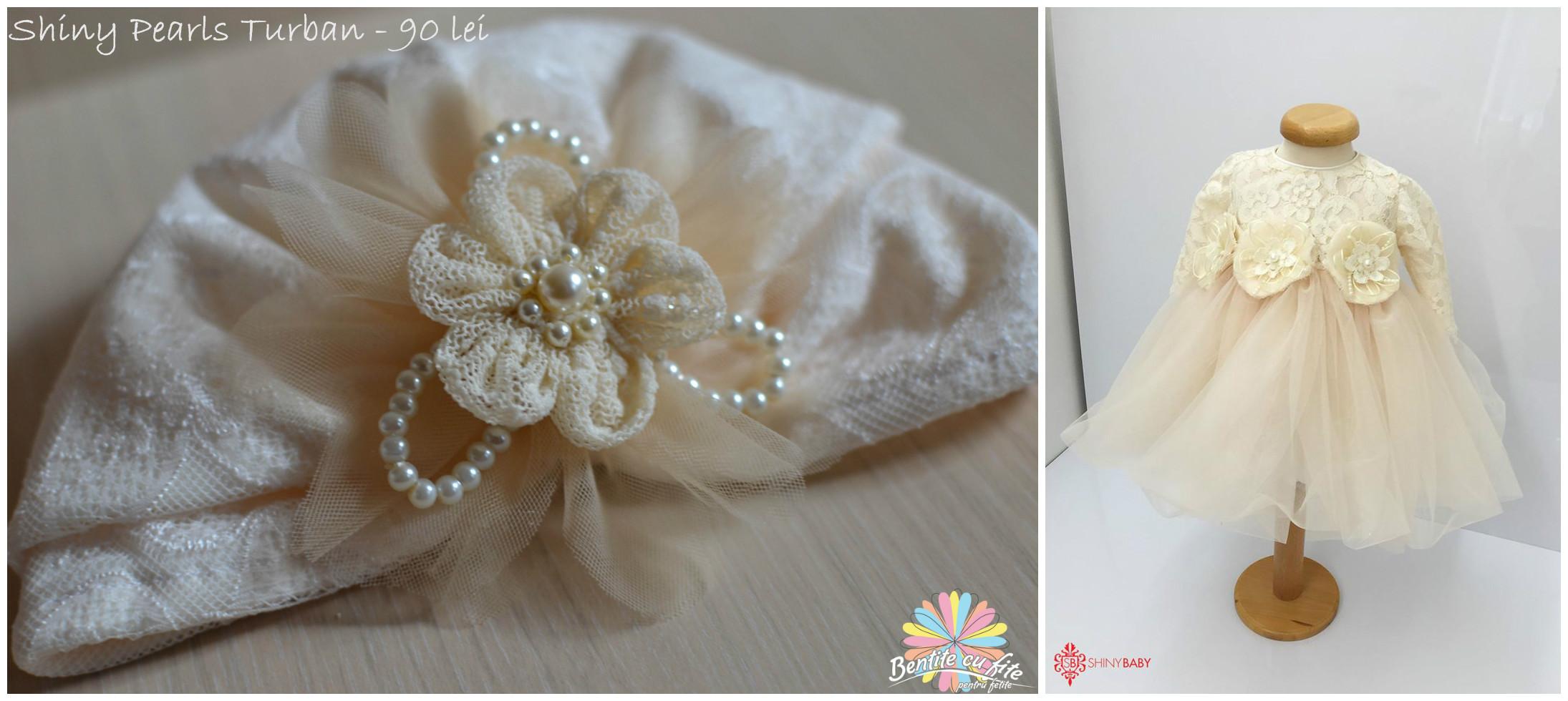 Shiny Pearls Turban